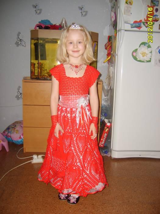 Вязание крючком платья на выпускной в детском саду 88
