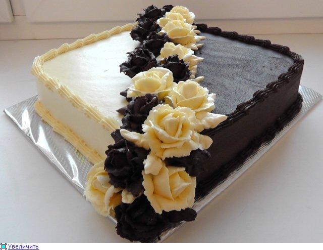 Украшаем торты кремом фото