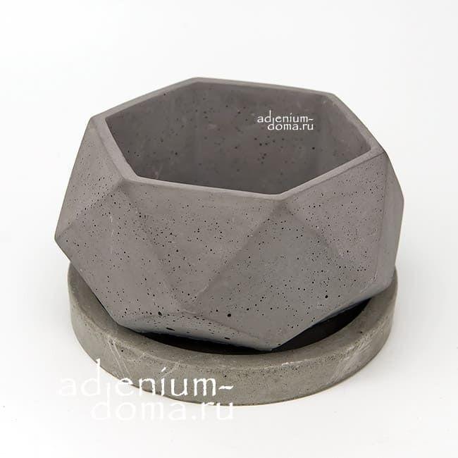 Горшок из бетона ПОЛИЭДР M 2