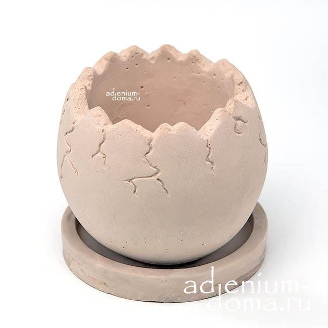 Горшок из бетона ЯЙЦО L 2