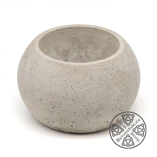 Горшок из бетона ШАР M 2