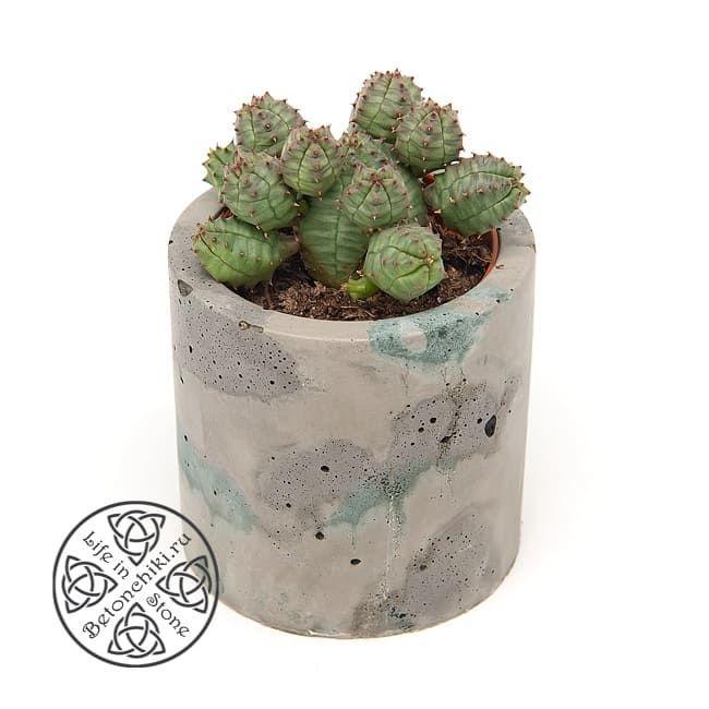Горшок из бетона ЦИЛИНДР M 1