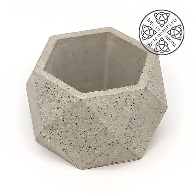 Горшок из бетона ГЕКСА M 2
