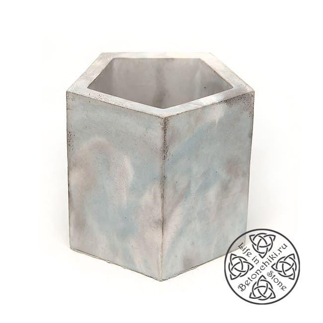 Горшок бетонный ПРИЗМА ПЕНТА S 1